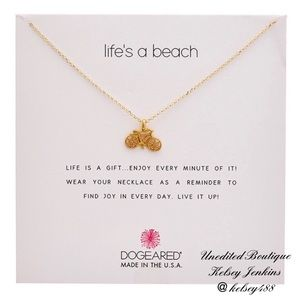 NWT - DOGEARED Bicycle Life's A Beach Necklace